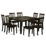 East West Furniture PFAN9-CAP-W 9 Piece Dining Room Table Setdinette Table With Leaf and 8 Kitchen Chairs