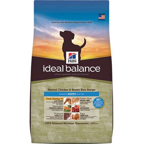 Hill's Ideal Balance Puppy Natural Chicken & Brown Rice Recipe Dry Dog Food, 12.5 lb bag