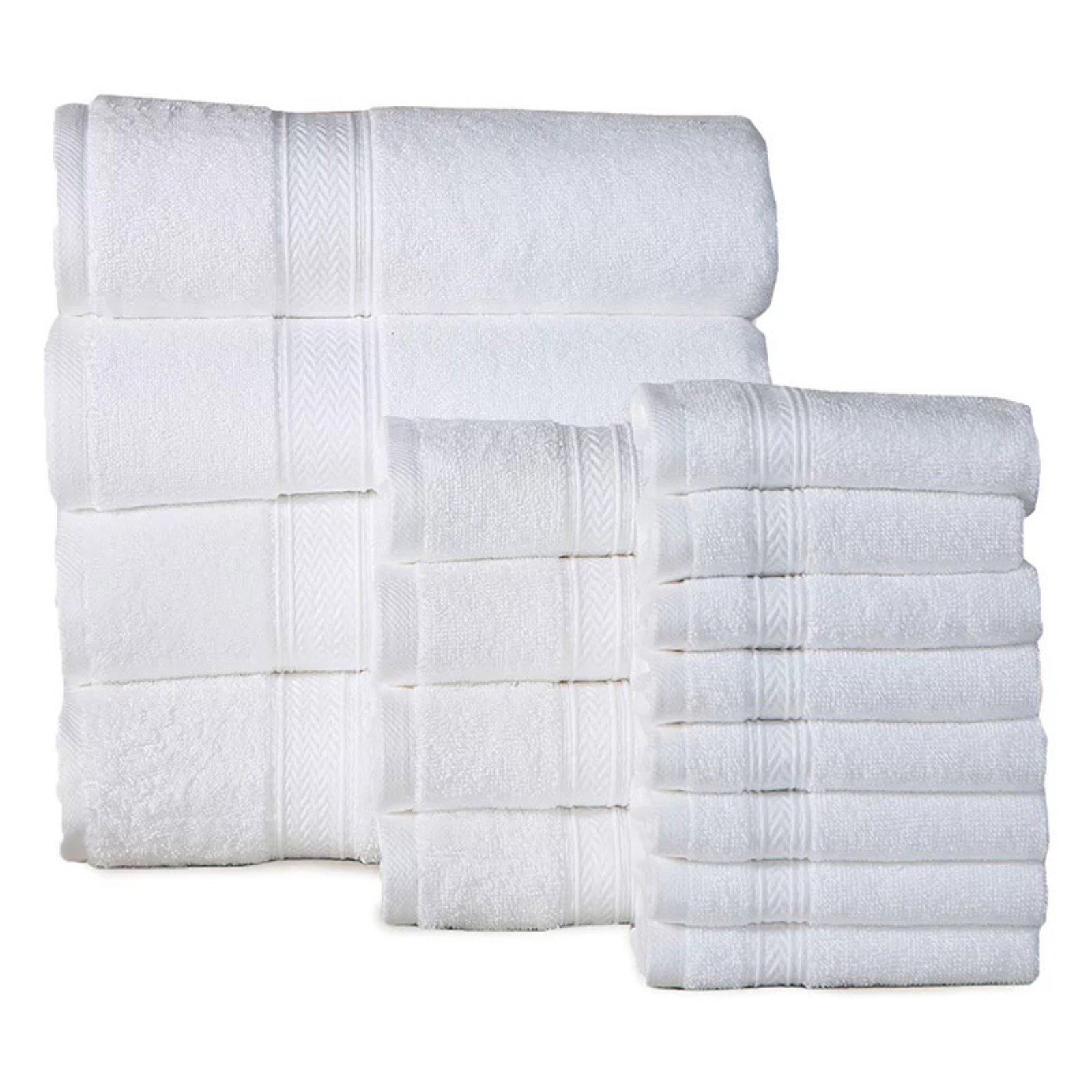 Casa platino 16 Piece Soft Cotton Towel Set by Overstock