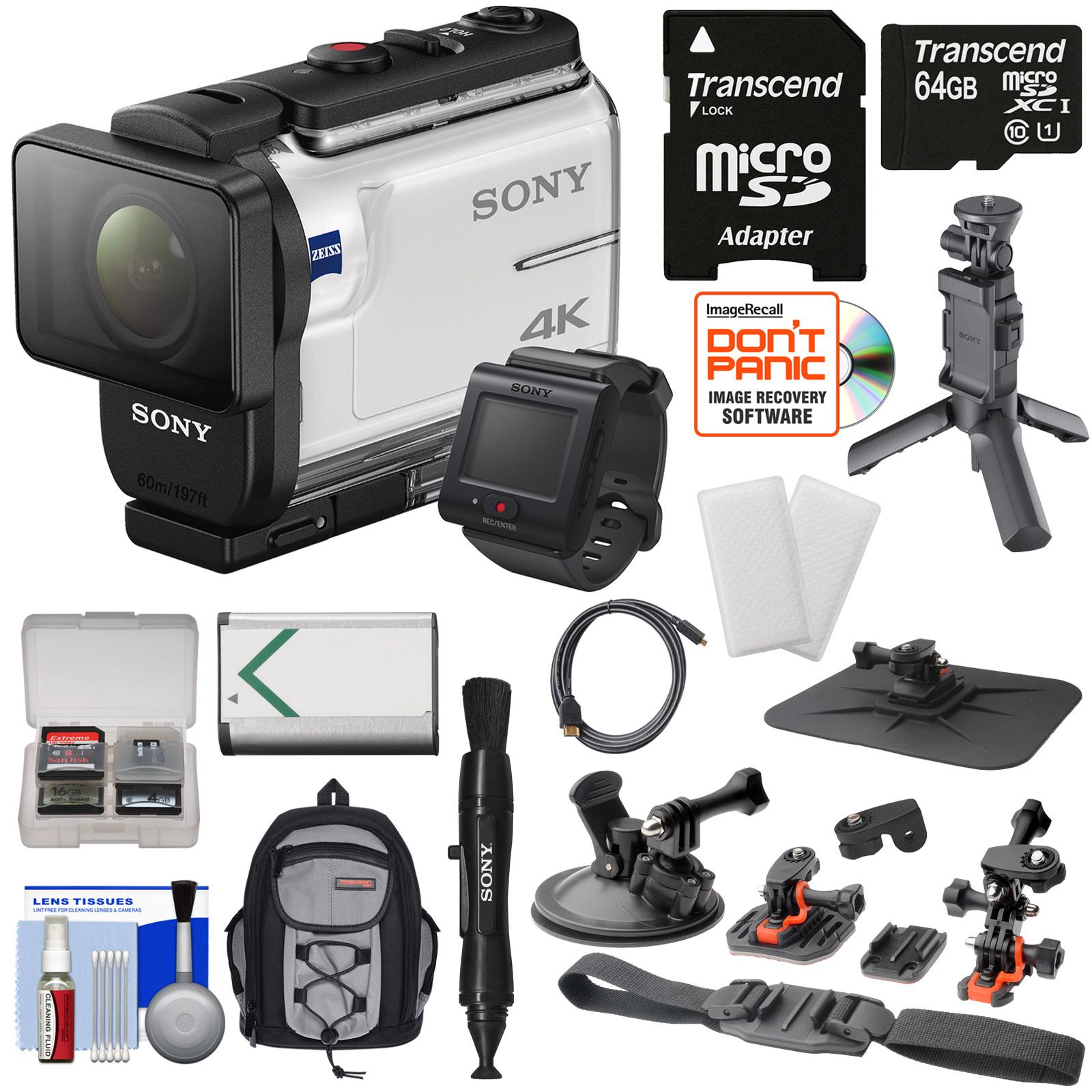 Sony Action Cam FDR-X3000R Wi-Fi GPS 4K HD Video Camera C...