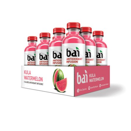 Bai Antioxidant Infused Beverage, Kula Watermelon, 18 Fl Oz, 12