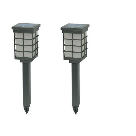 Brinkmann 822-1651-2 Modern Pagoda Solar Light Set Silver, 2-Pack by
