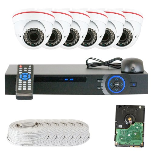 Best Sale High End Professional 8 Channel HD-CVI DVR Security Camera System with 6 x 1/2.9 HDCVI Color IR CCTV Security