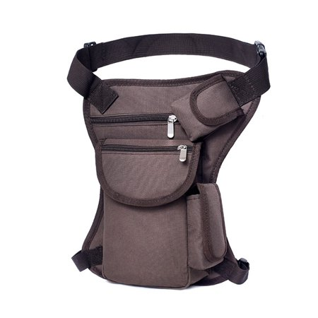 Multi-functional Canvas Waist Bag Men Sport Fanny Pack Travel Outdoor Hiking Cycling Riding Leg Bag Thigh Pouch
