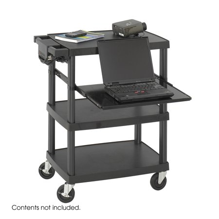 Safco 8929BL Presentation Furniture Multimedia Projector Cart