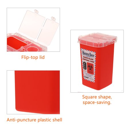 Portable 1l Sharps Container Bin Biohazard Tattoo Piercing Barber Razor Blade Disposal Collect Box Walmart Canada