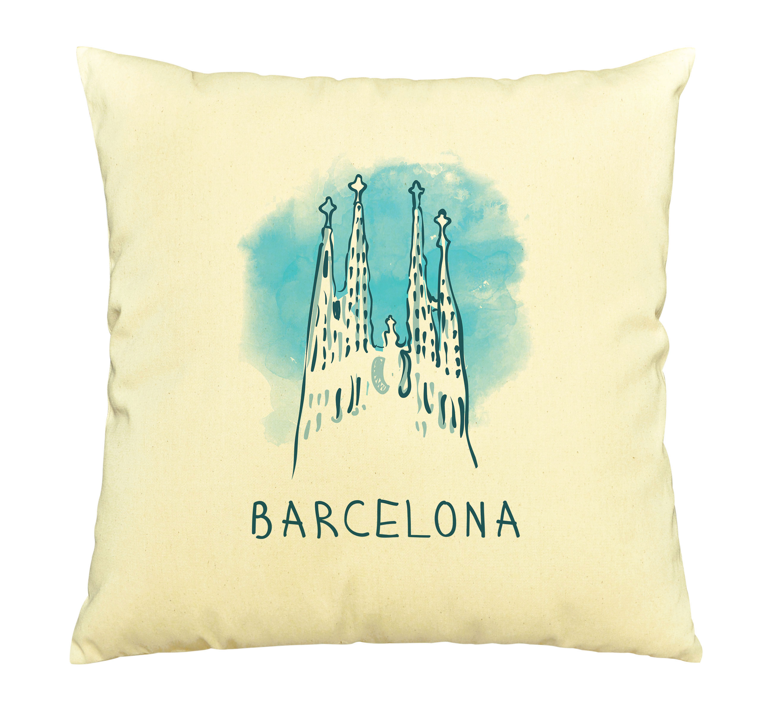 Barcelona Printed Cotton Decorative Pillows Cover Cushion Case Vplc 03 Walmart Com Walmart Com