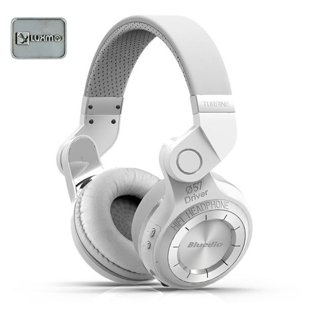 Luxmo Bluedio Turbine Hurricane T2 Wireless Bluetooth 4 1 Stereo Headphones Headset White Walmart Com Walmart Com