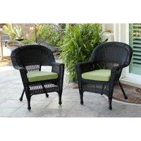Jeco Black Wicker Chair (Set of 2)