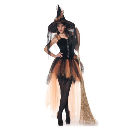 Hallow's Eve Women's Orange & Black Witch Costume - Black And Orange Witch Costume