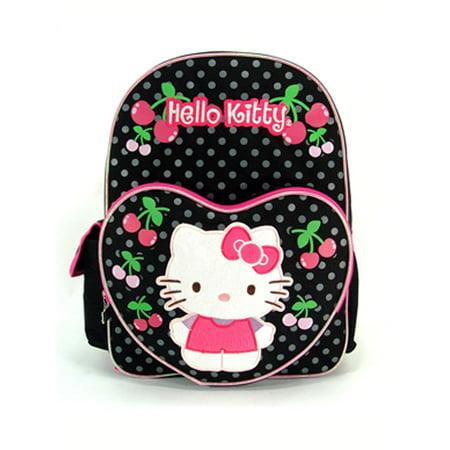 Backpack - Hello Kitty - Black Polka Cherry w/Lunch Bag 16