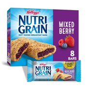 Kellogg's Nutri-Grain, Soft Baked Breakfast Bars, Mixed Berry, 10.4 Oz, 8 Ct