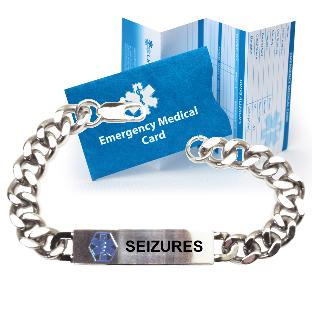 engraved medical seizures alert slim pre now bracelet shop advisor seizure product
