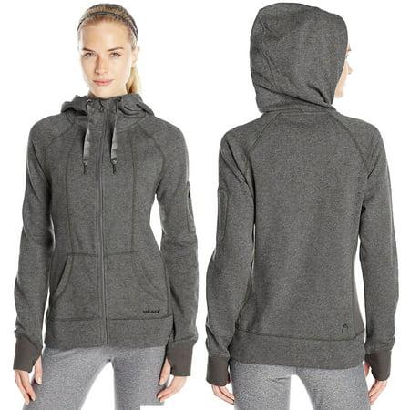 Head Womens High Altitude Rib Hoodie Thumb Holes Full Zip High Neck Sweatshirt Blend Full Zip Hoodie
