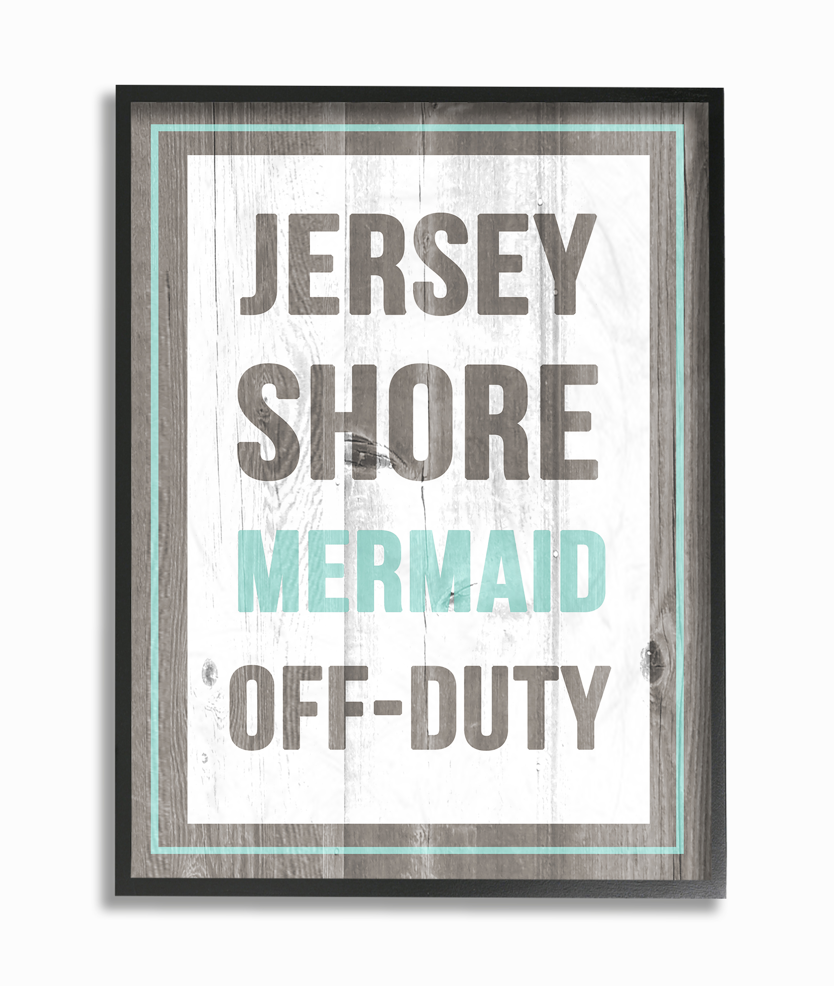 The Stupell Home Decor Collection Jersey Shore Mermaid Off Duty Oversized Framed Giclee... by Stupell Industries
