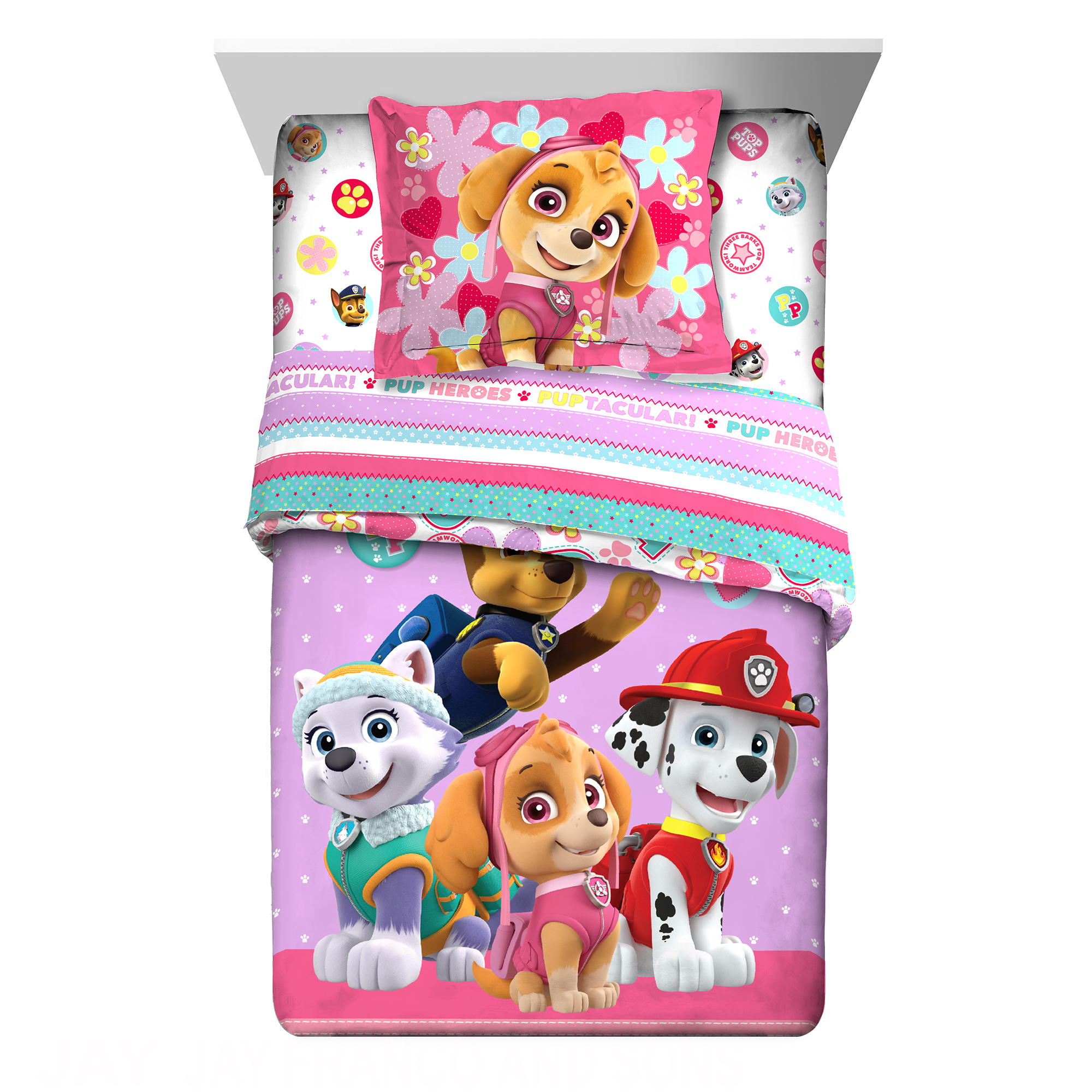 Paw Patrol Best Pup Pals Kids Bedding 2Pc Comforter with Sham, Twin/Full