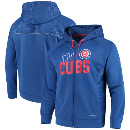 Chicago Cubs Majestic MLB Chin Music Full Zip Therma Base Hoodie - - Royal Full Zip Hoody