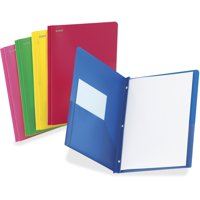TOPS, OXF99811, Oxford Translucent Poly Twin Pocket Folders, 25 / Box, Blue,Red,Pink,Green,Yellow