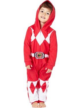 Mighty Morphin Power Rangers One-Piece Unionsuit Pajama (Toddler Boys)
