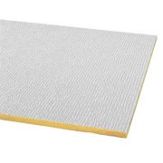 Armstrong Acoustical Ceiling Tile, Fiberglass, White, 2906