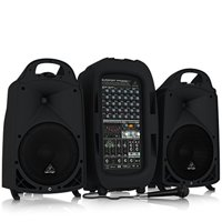 Behringer EUROPORT PPA2000BT Ultra-Compact 2000-Watt 8-Channel Portable PA System with Bluetooth Wireless Technology