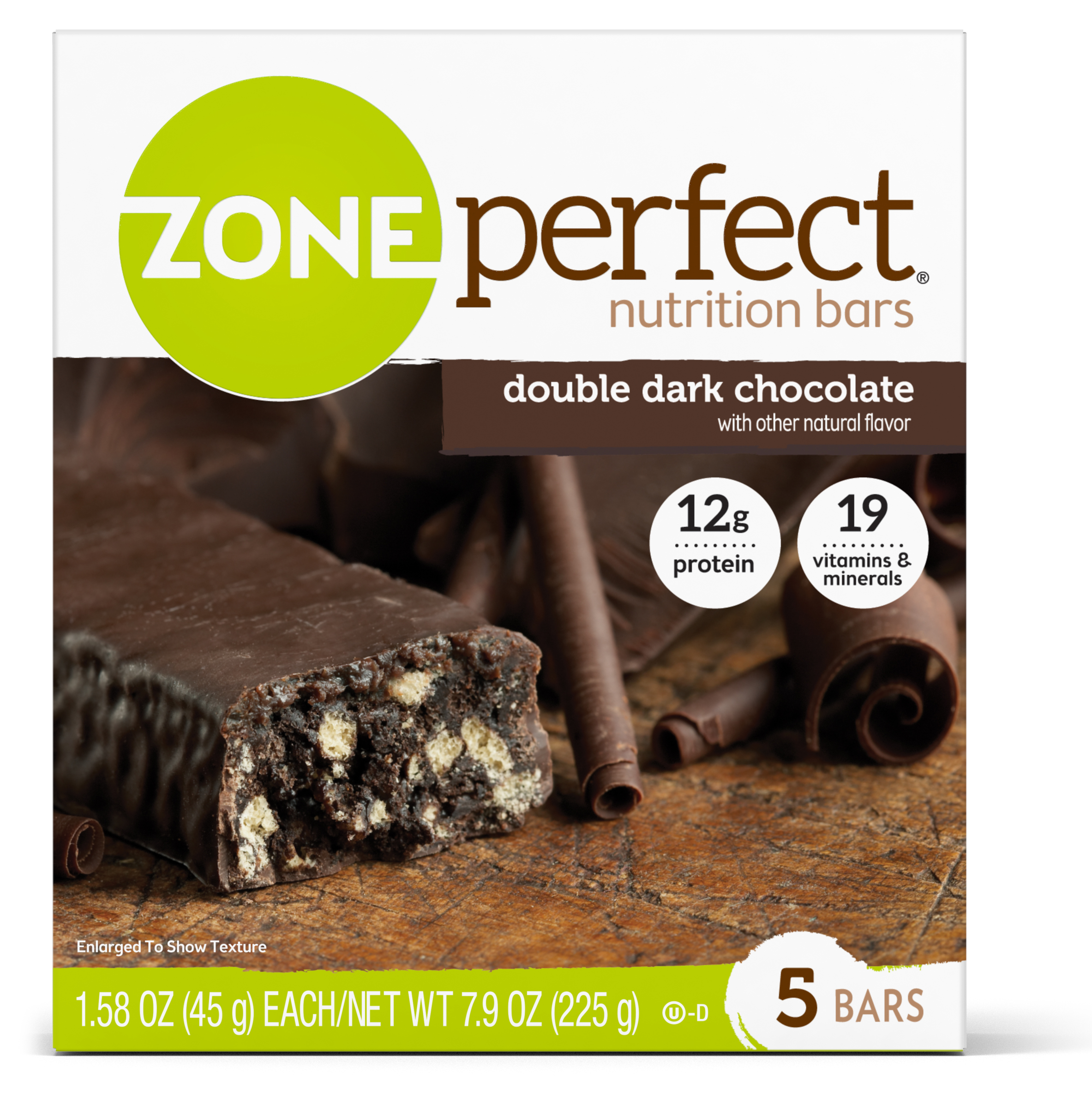 ZonePerfect Nutrition Snack Bars, Double Dark Chocolate, 1.58 oz, 5 count