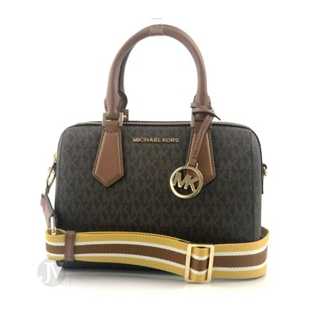 BRAND NEW WOMEN'S MICHAEL KORS HAYES SIGNATURE SMALL DUFFLE ZIP SATCHEL HANDBAG - Small Duffle