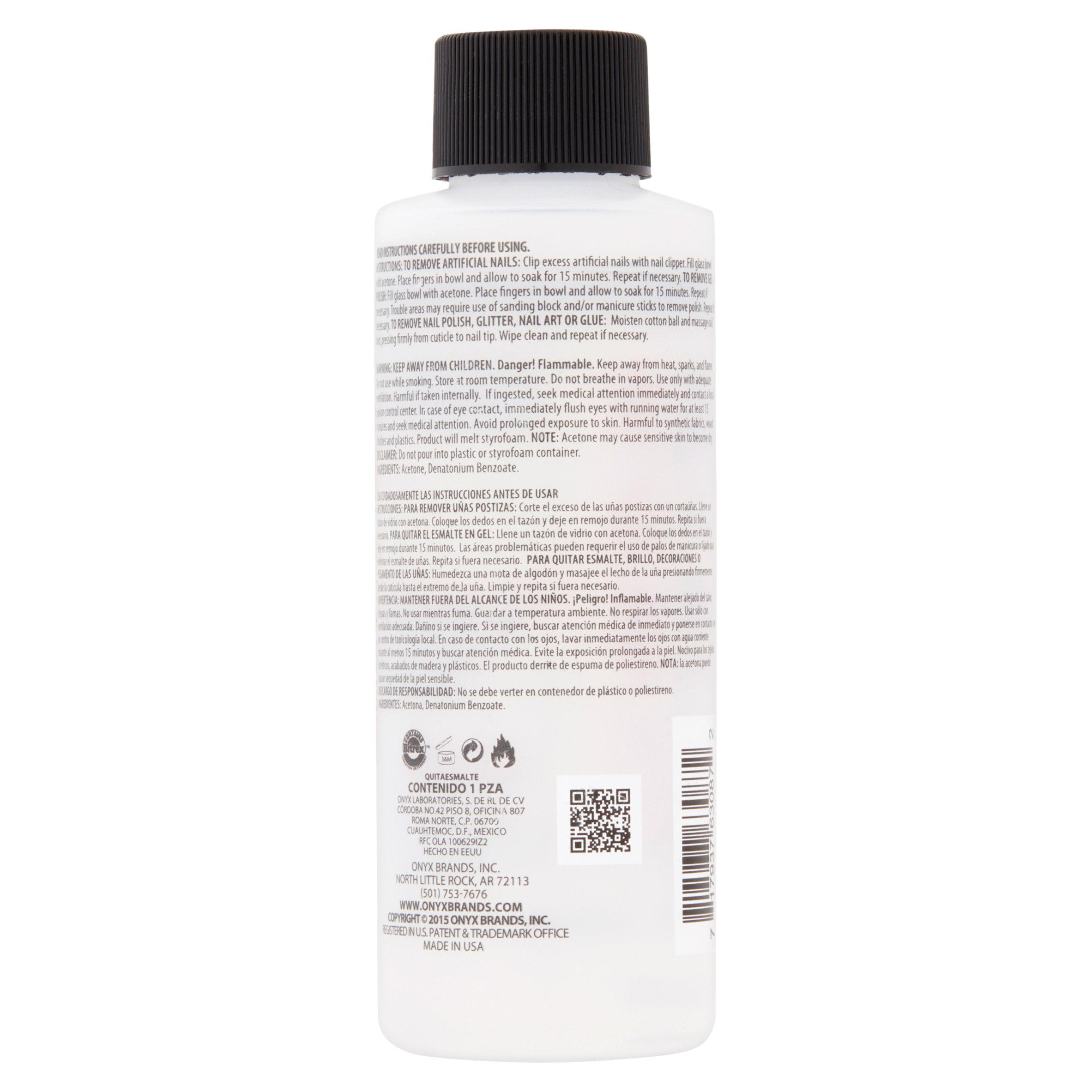 Onyx Professional 100 Acetone Nail Polish Remover 4 Fl Oz
