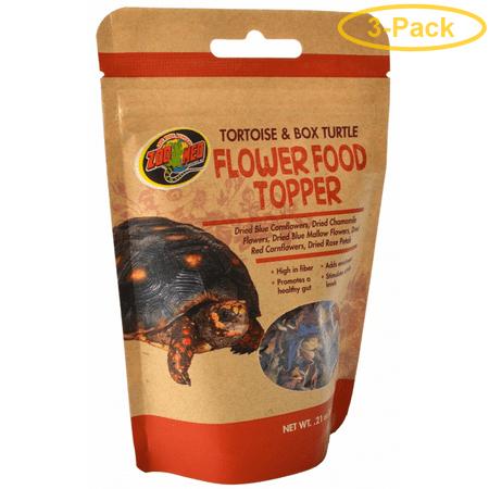 Zoo Med Tortoise & Box Turtle Flower Food Topper 0.21 oz - Pack of 3
