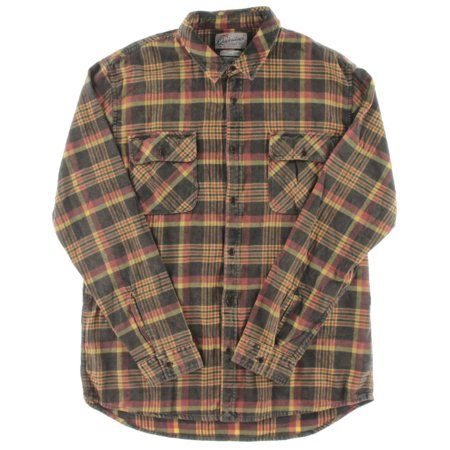 - Quiksilver Mens Plaid Long Sleeve Button-Down Shirt