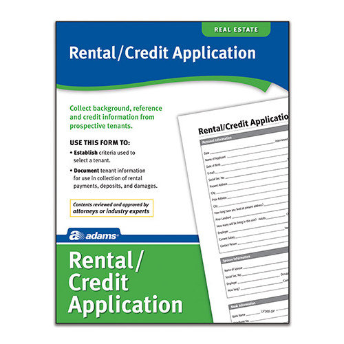Adams Business Forms Rental/Credit Application Forms and Instruction (Set of 6) (Set of 288)