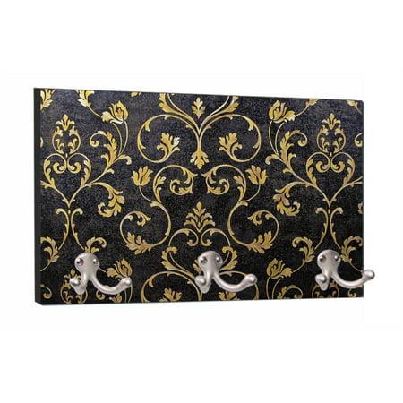 Elegant Gold Floral Damask Pattern Print Design - 8