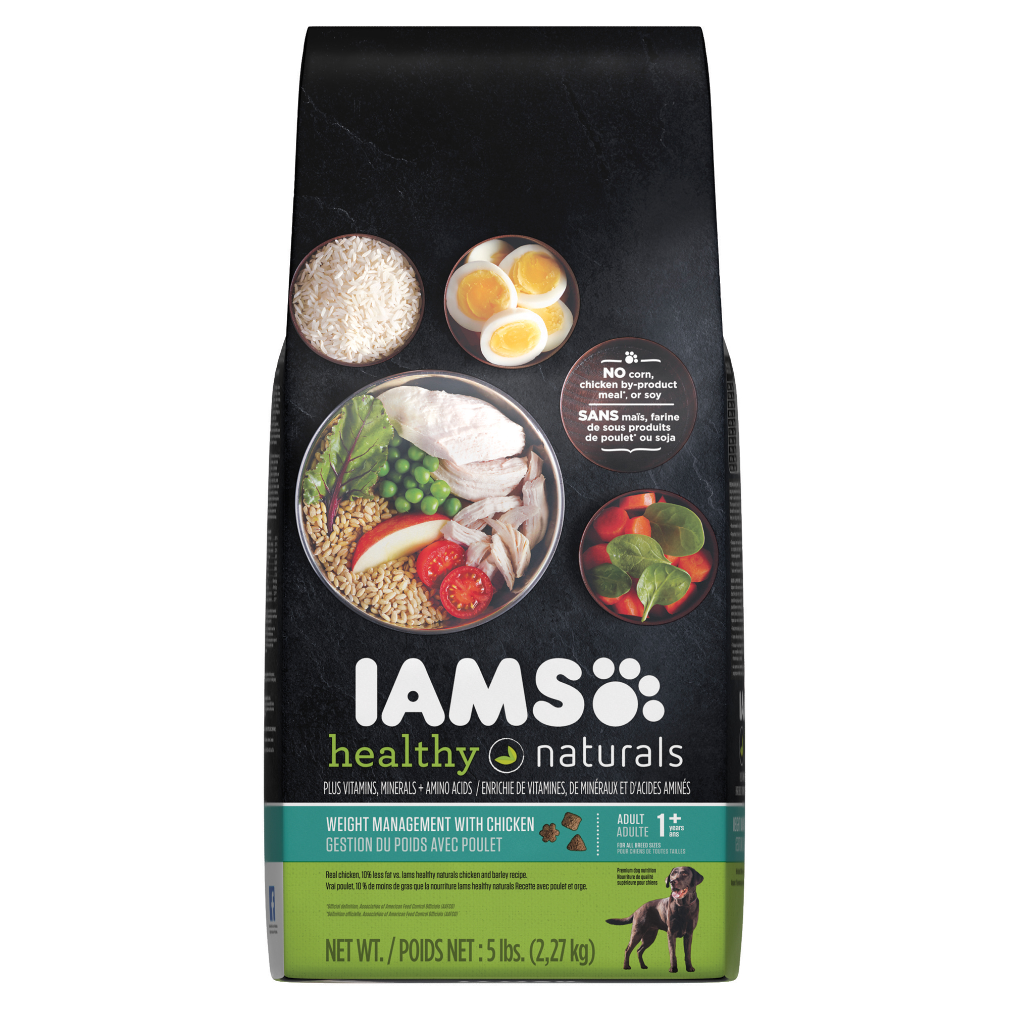 IAMS HEALTHY NATURALS Adult Weight Management With Chicken Dry Dog Food 5 Pounds