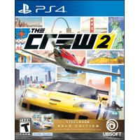 The Crew 2 Steelbook Gold Edition, Ubisoft, PlayStation 4, 887256029173