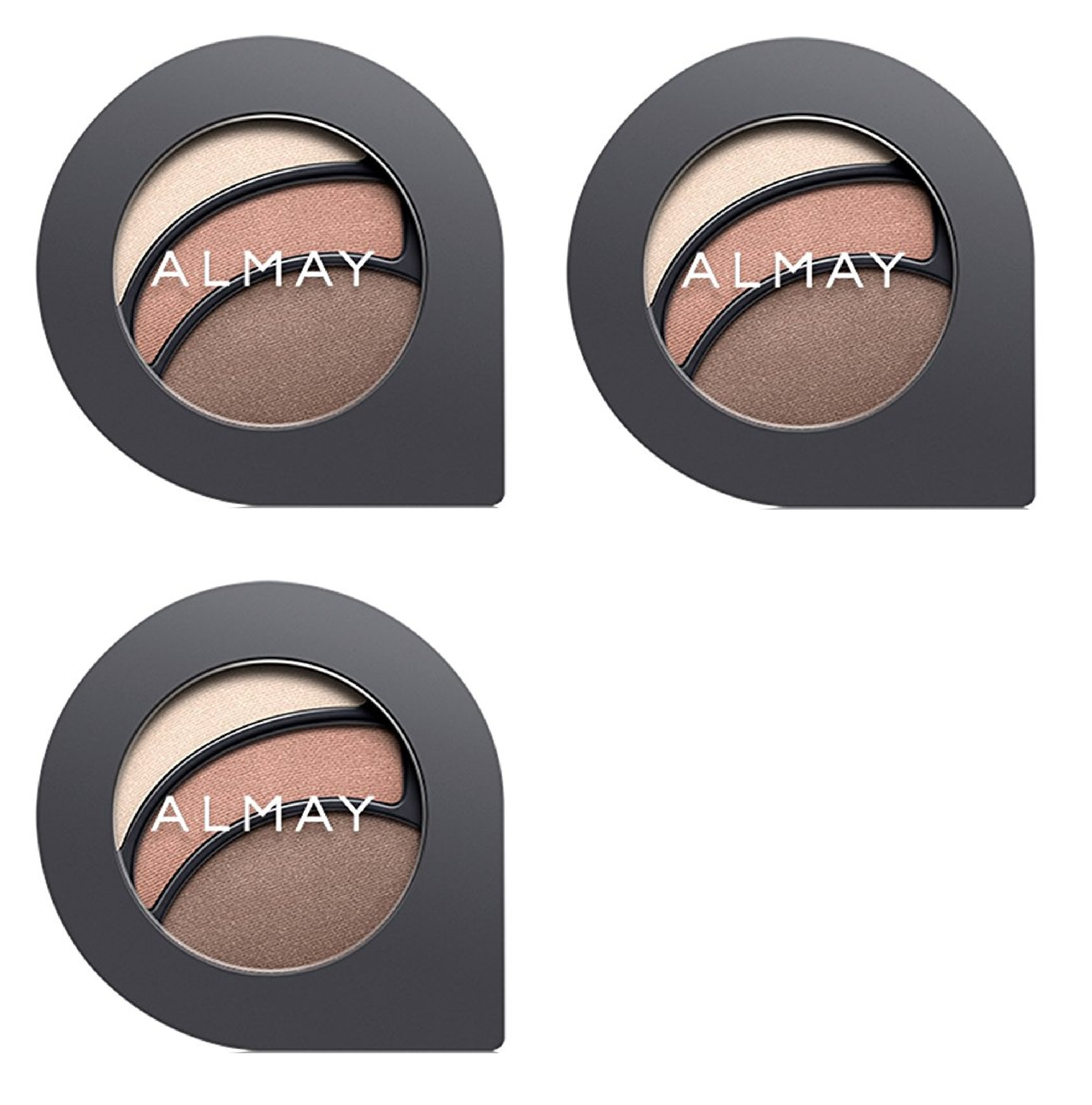 Almay The Complete Look Palette, Makeup for Eyes, Lips and Cheeks #100 Light/Medium Skin Tones (Pack of 3) + Makeup Blender Sponge
