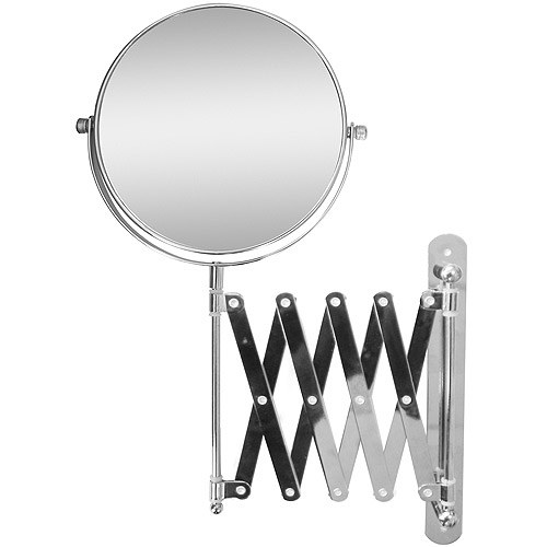 extendable magnifying bathroom mirror extendable wall mount bath magnifying makeup mirror 18258