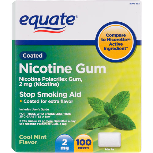 Equate Nicotine Gum, 100ct