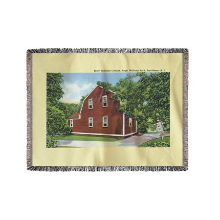 Providence, Rhode Island - Roger Williams Park View of Betsy Williams Cottage (60x80 Woven Chenille Yarn Blanket) - Roger Williams Park Halloween