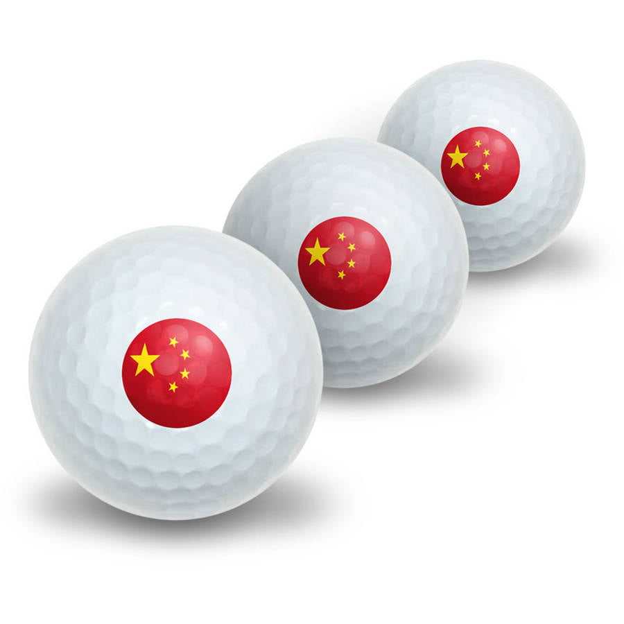 Chinese Flag Novelty Golf Balls, 3pk by Graphics and More