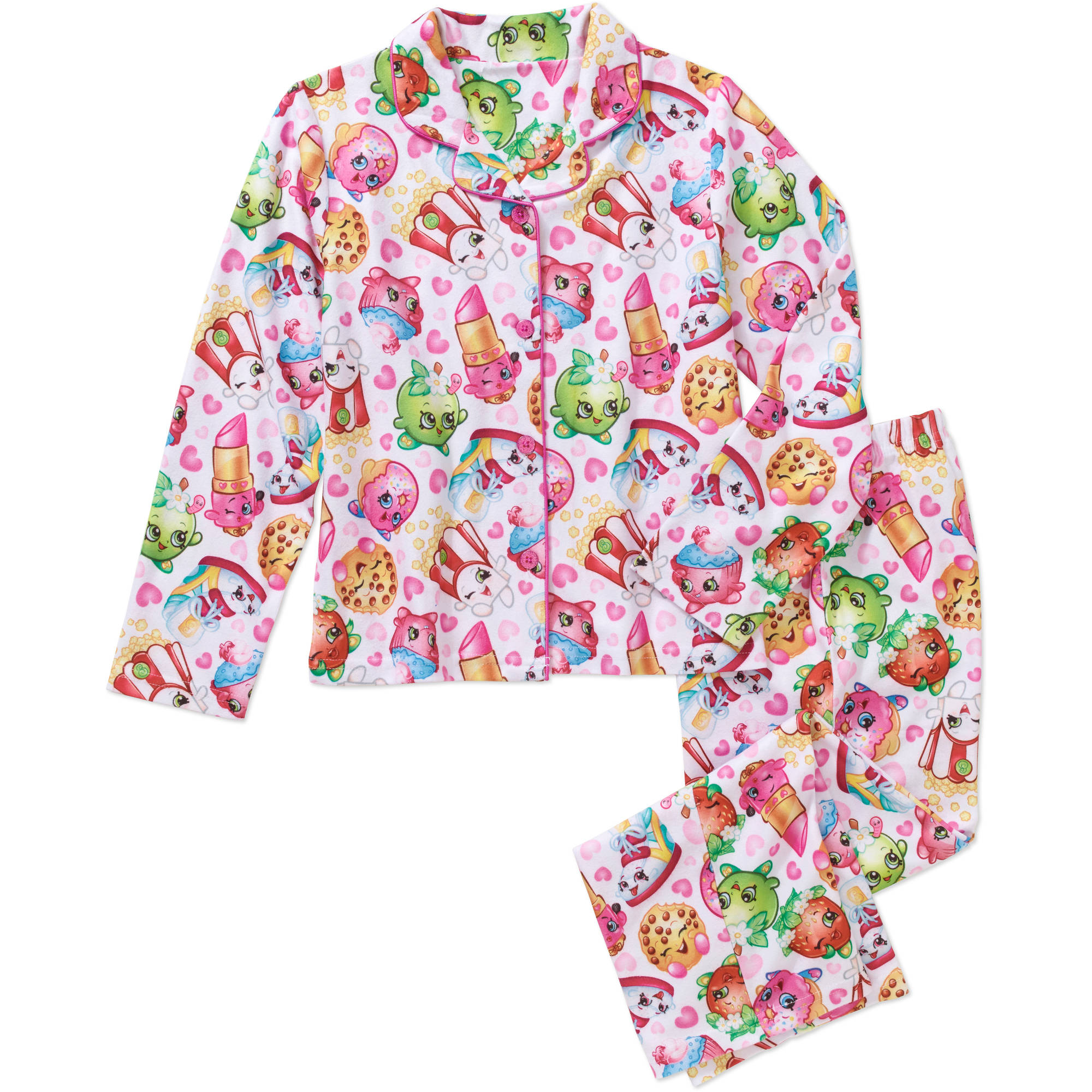 Shopkins Girls' Licensed 2-Pc Coat Pj