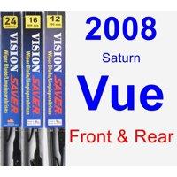 2008 Saturn Vue Wiper Blade Set/Kit (Front & Rear) (3 Blades) - Vision Saver
