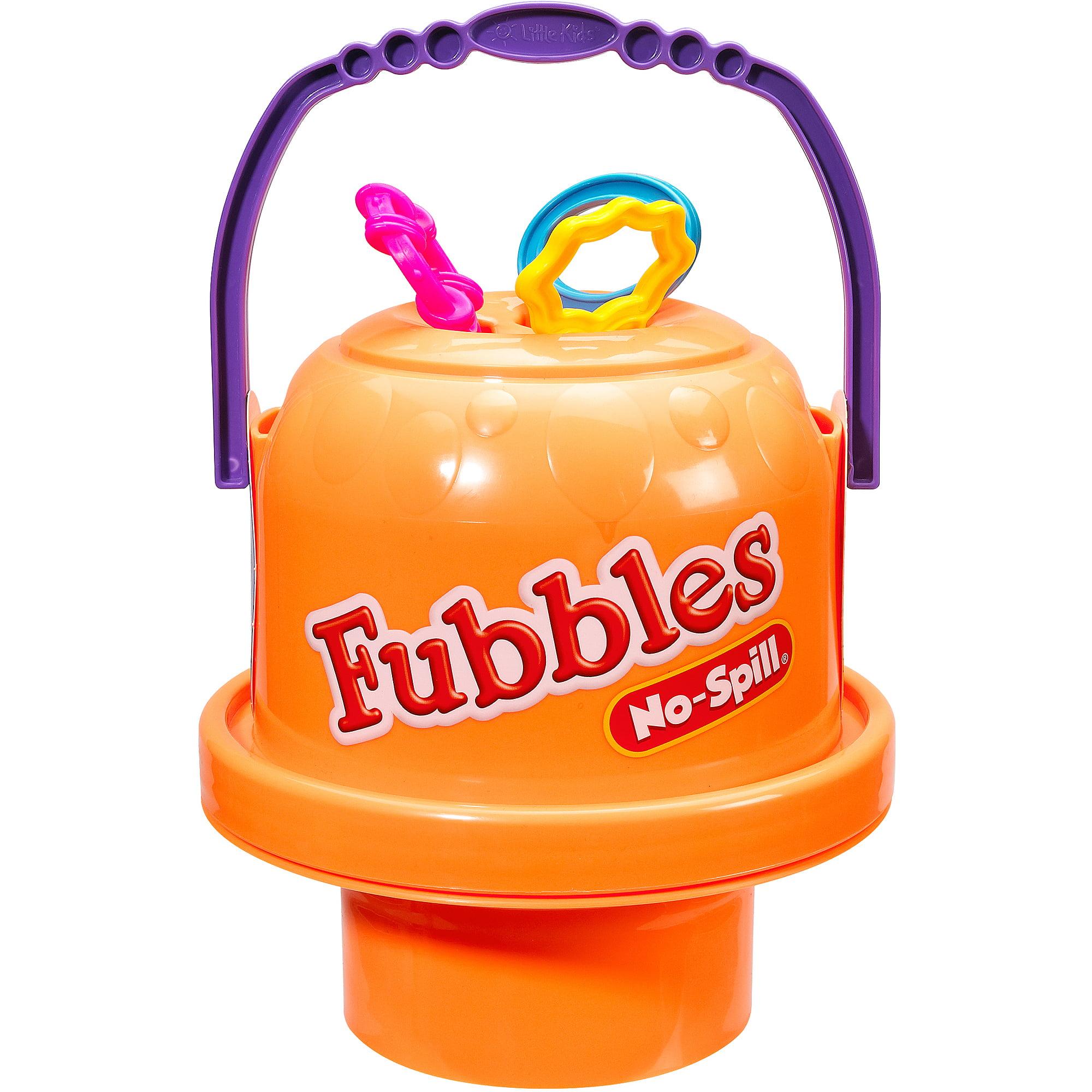 Little Kids Fubbles No-Spill Big Bubble Bucket, Orange