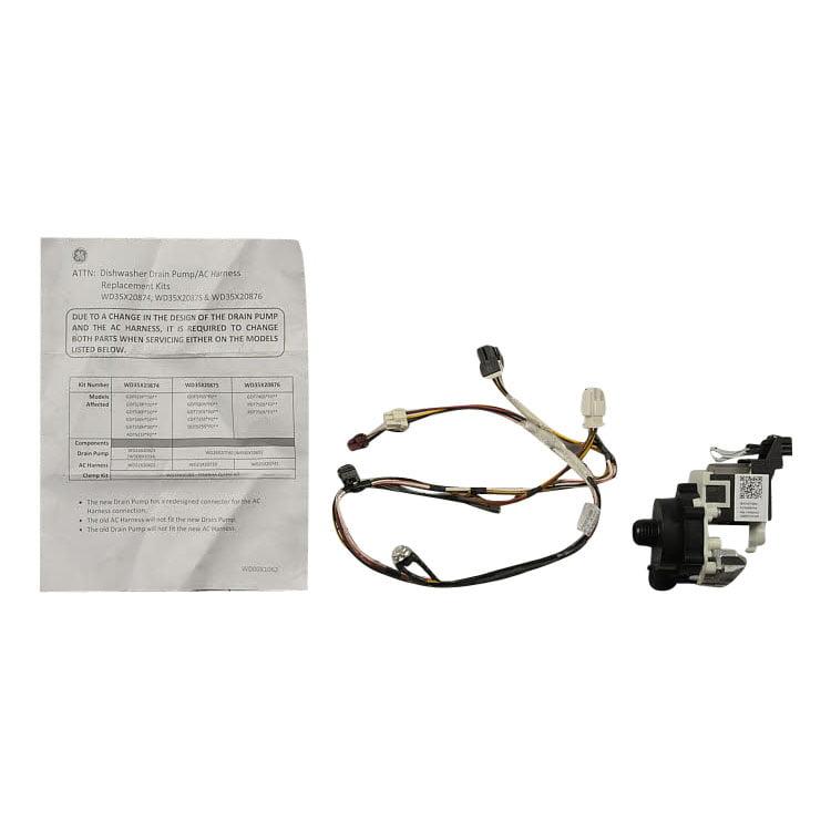 WD35X20875 GE Refrigerator P2A Drain Pump Kit