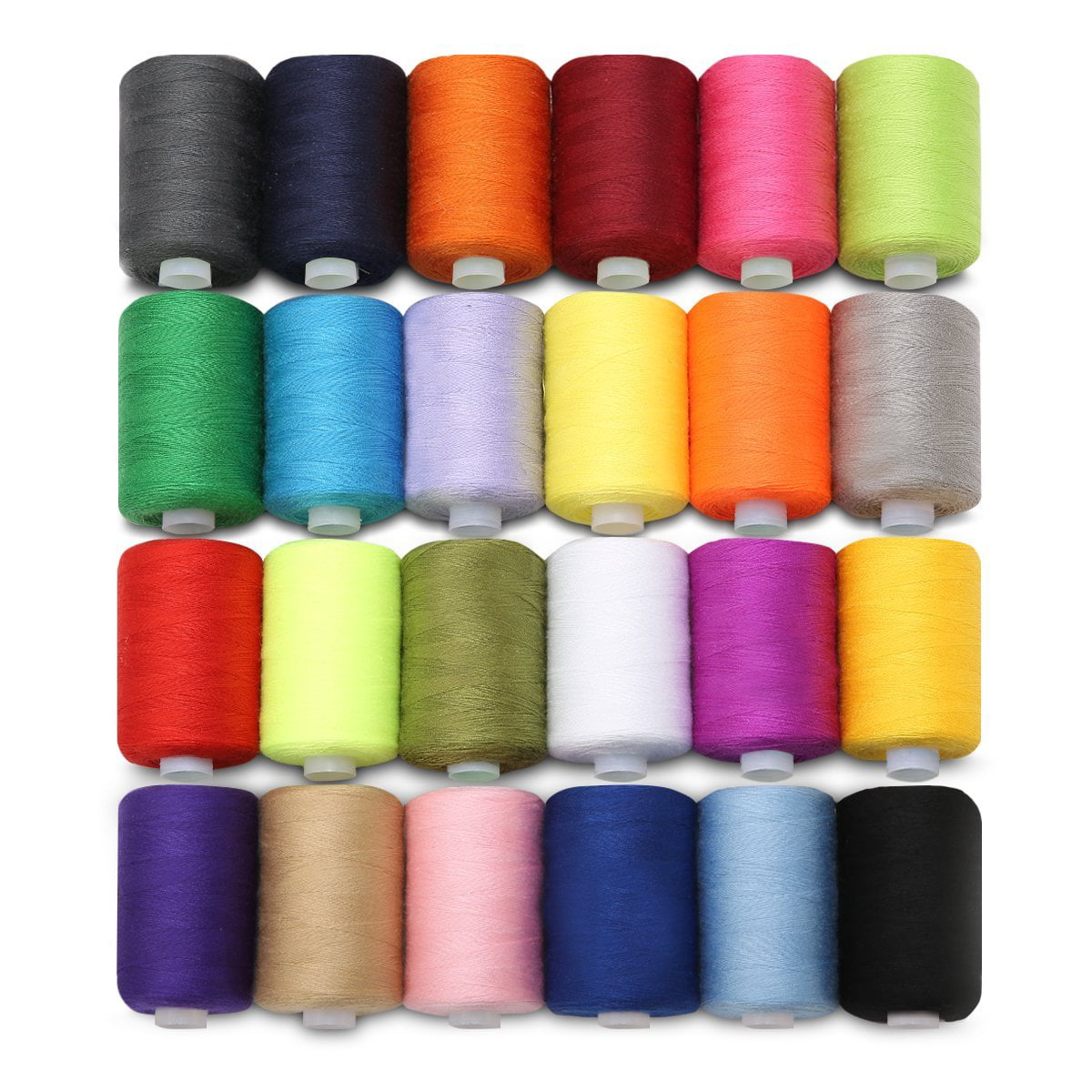 PRETYZOOM Sewing Thread Kit Polyester Yarn Coils Kits Colorful Sewing Threads Polyester Spool for Machine Sewing DIY Clothes Handmade Sewing Craft Supplies 12pcs