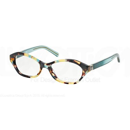 Tory Burch Eyeglasses Ty2044 1329 Blue Tortoise Geyser 50Mm