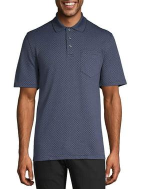 Geroge Men's Short Sleeve Pattern Jersey Polo