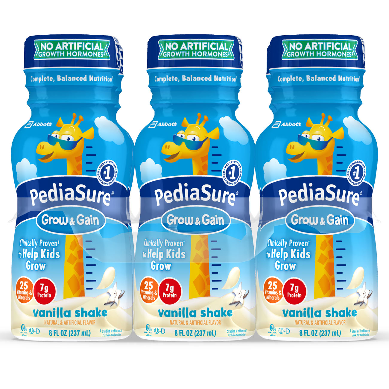PediaSure Grow & Gain Nutrition Shake Vanilla 8 fl oz Bottles (Pack of 24)