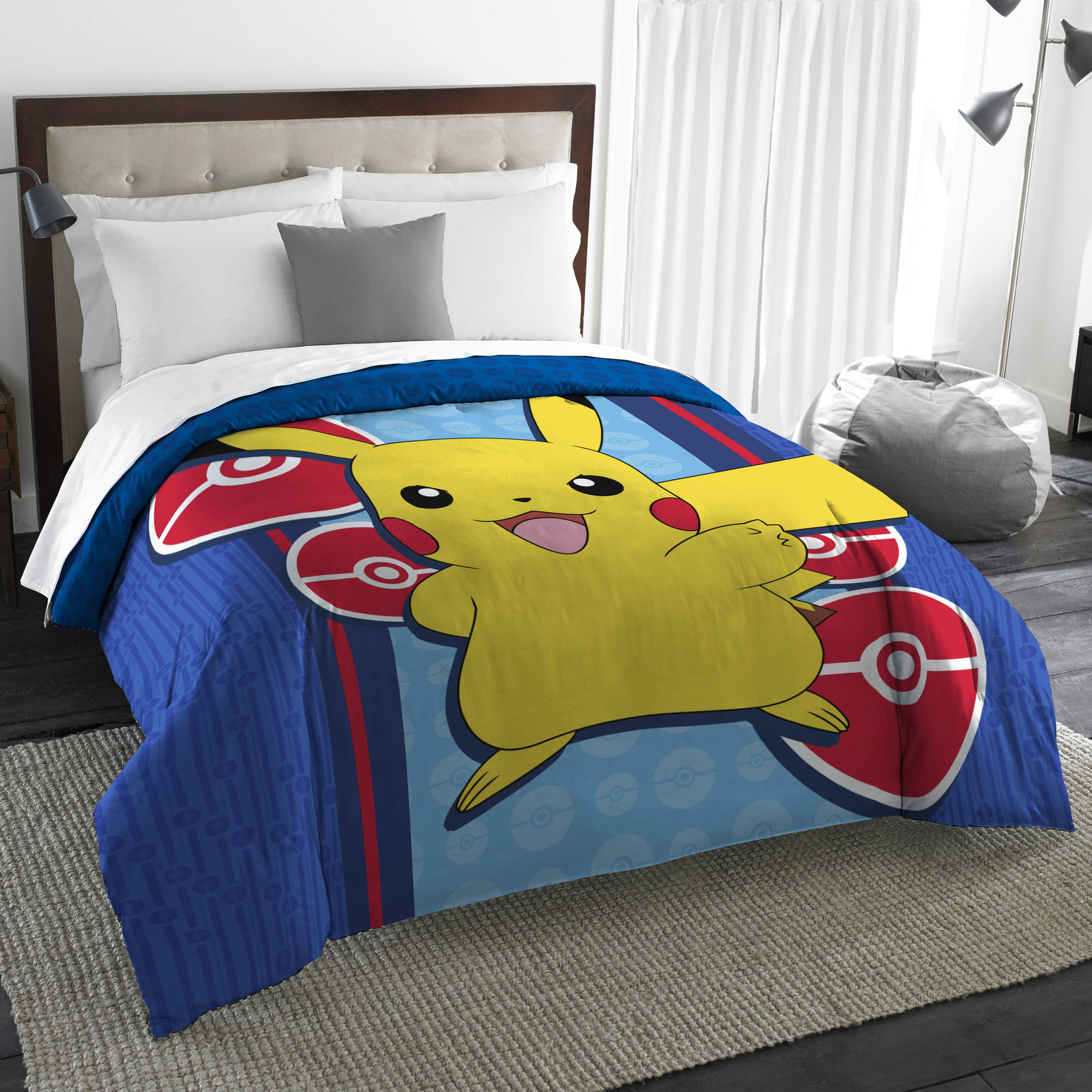 "Pokémon Electric Ignite 72"" x 86"" Twin Full Comforter Set, 1 Each"