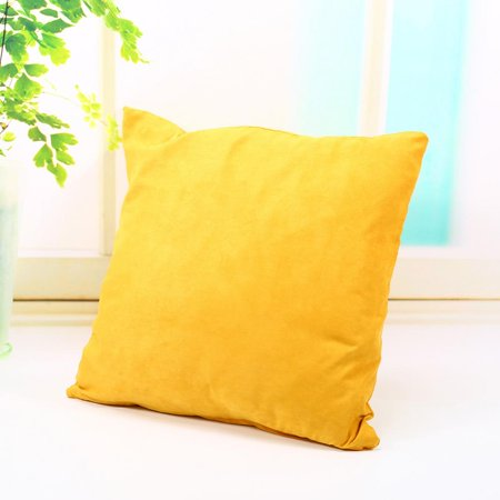 Pillow Case, VGEBY 18  x 18  Solid Suede Nap Soft Decorative Square Throw Pillow Covers Set Cushion Cases Pillowcases for Sofa Bedroom Car Home Decoration, Yellow