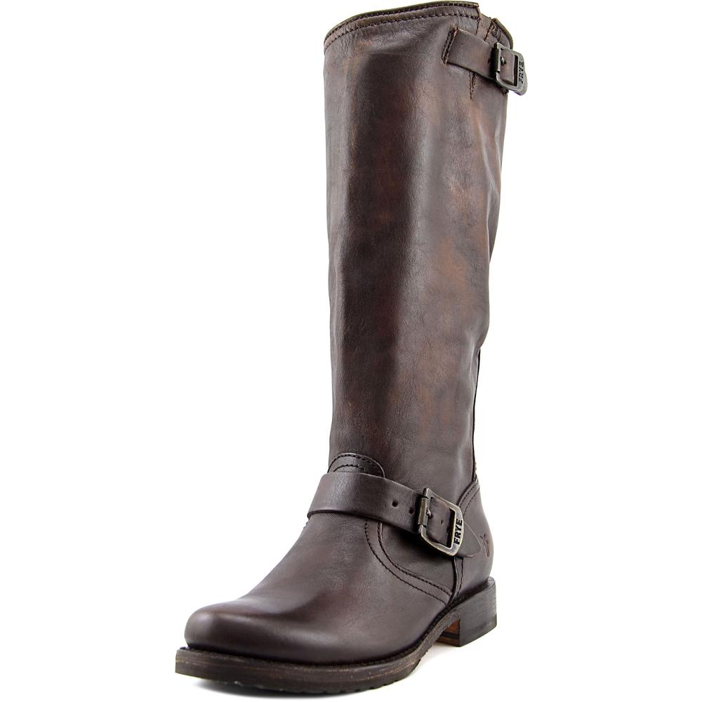Frye Veronica Slouch Women  Round Toe Leather Brown Knee ...